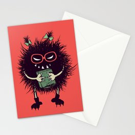 Evil Bug Student Loves To Read Stationery Cards
