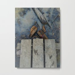 Cigarette Puddles Metal Print