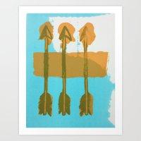 Three Arrows Art Print