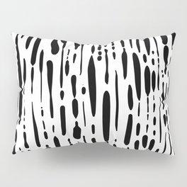 Ice Melt Black and White Pillow Sham