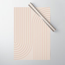 Minimal Line Curvature - Natural Wrapping Paper