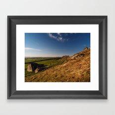 Approaching Almscliff Crag Framed Art Print