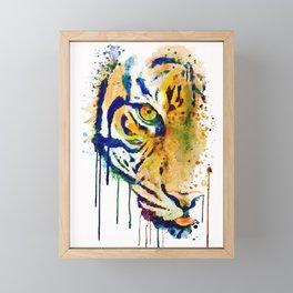 Half Faced Tiger Framed Mini Art Print