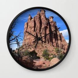 Monolithic skies Wall Clock