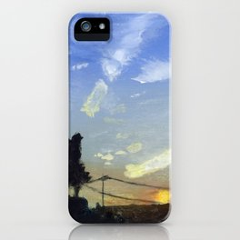 Sunset on the Road iPhone Case