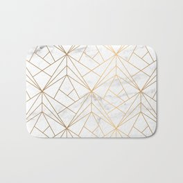 Marble, Geometry and Gold Bath Mat