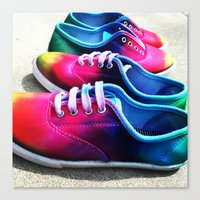 sneakers Canvas Prints featuring sneakers by NatalieBoBatalie