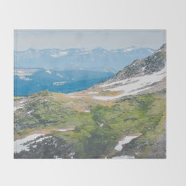 Alpine Mosses Throw Blanket