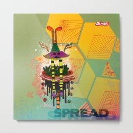 Spread Metal Print