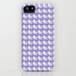 3D Optical Illusion: Purple Icosahedron Pattern iPhone Case