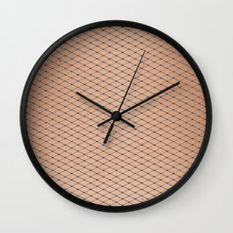 Silver Woven Fishnets With Skin Texture Wall Clock