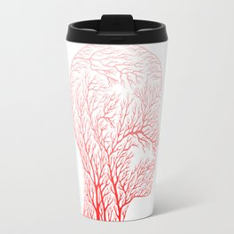 Head Profile Branches - Red Travel Mug
