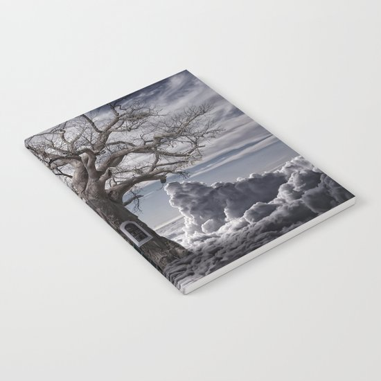 Home tree up in the clouds Notebook