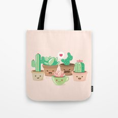 Kawaii Succulents Tote Bag
