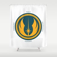 jedi Shower Curtains featuring The Jedi Code by Spectacle Photo