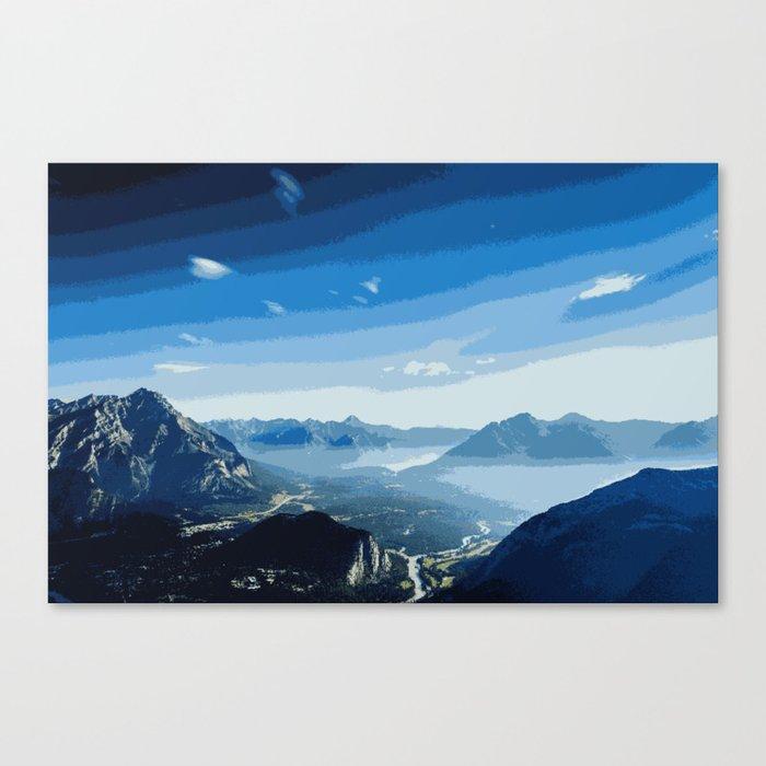 Pixel Art Landscape Mountains Canvas Print By Gcgraphics