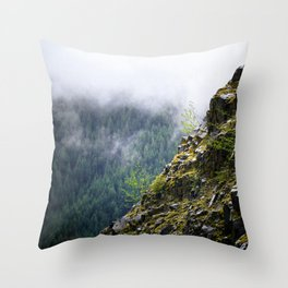 Rocky Cliff Face Throw Pillow