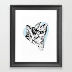 Kitten Love Framed Art Print