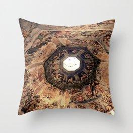 Vasari Fresco, Brunelleschi cupola, Florence Duomo Throw Pillow