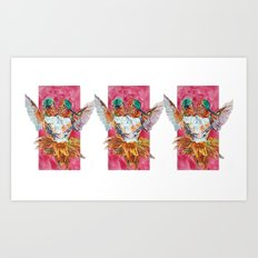 The Ultimate Pollinator, Triptych Art Print