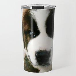Saint Bernard Puppy Travel Mug