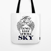 larry stylinson Tote Bags featuring Hey Angel (Larry Stylinson) by Arabella