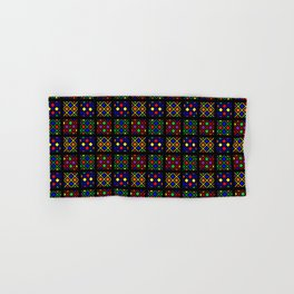 Kente Cloth Ankara Stained Glass Pattern Hand & Bath Towel