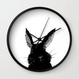 Black Bunny Wall Clock