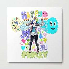 2NE1 Happy: Minzy Metal Print