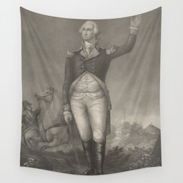 Vintage George Washington Portrait (1854) Wall Tapestry