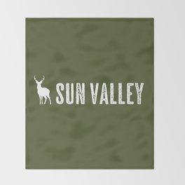 Deer: Sun Valley, Idaho Throw Blanket
