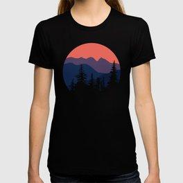 Mountain Sunset Orange and Purple Hues T-shirt