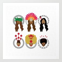UrbanNesian Women of Pasifika Art Print