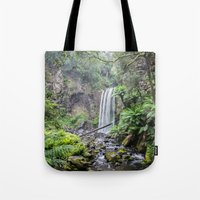 waterfall Tote Bags featuring Waterfall by Michelle McConnell