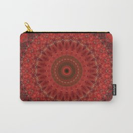 Mandala in pastel red and orange tones Carry-All Pouch