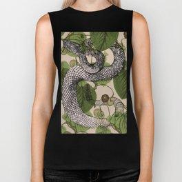 Snake in garden vine Biker Tank
