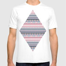 Tribal Triangle #2# Mens Fitted Tee White MEDIUM