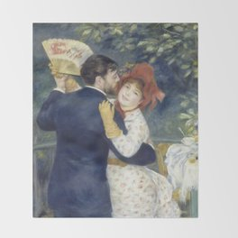 The Country Dance by Renoir Throw Blanket