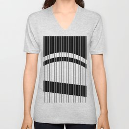 Colour Blind (Abstract, minimalistic black and white) Unisex V-Neck