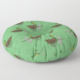 carrot on a stick (tortoise and the hare) Floor Pillow