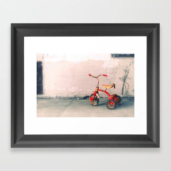 Childs Vintage Tricycle Framed Art Print