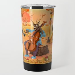 Musician animals in the wood Travel Mug