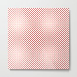 Peach Echo Polka Dots Metal Print