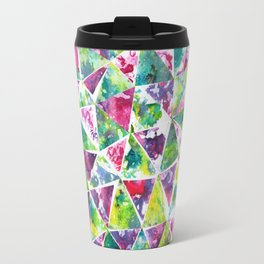 COLLAGE LOVE: Funky Triangles Travel Mug