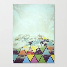Triangle Mountain Canvas Print