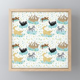 Puppies and Puddles Framed Mini Art Print
