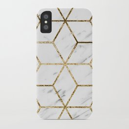 Gatsby golden marble iPhone Case