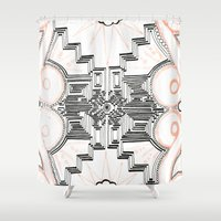 gatsby Shower Curtains featuring Gatsby Mandala by HRE.