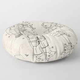 Nasa Apollo Spacesuite Patent - Nasa Astronaut Art - Antique Floor Pillow