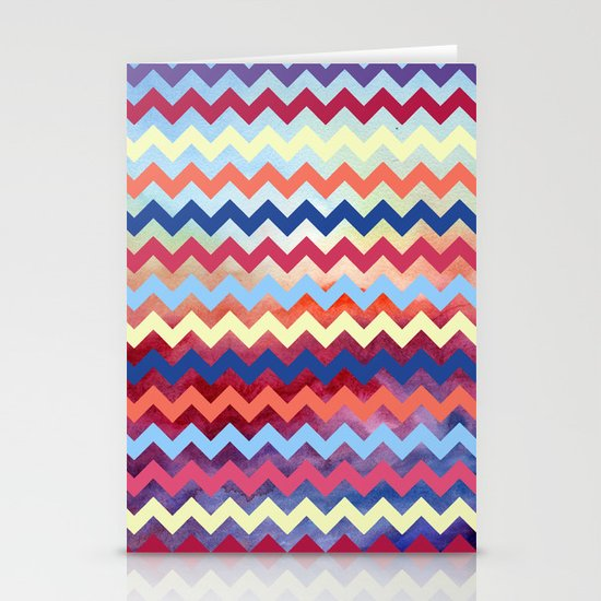Watercolor Chevron II Stationery Cards